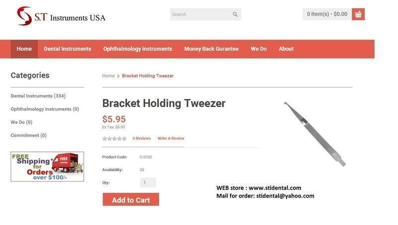 Bracket holding tweezers