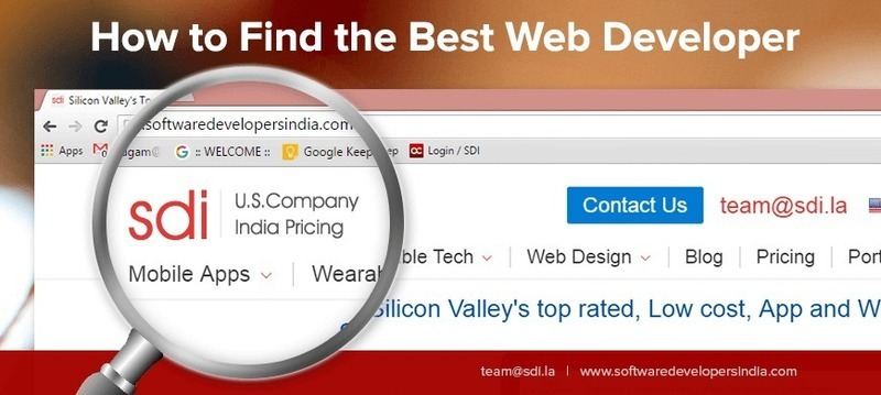 How to find the best web developer