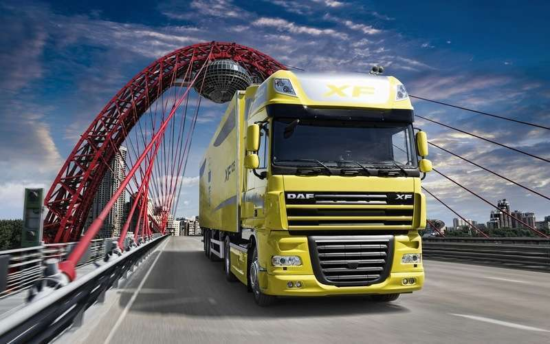 Daf trucks wallpapers in yellow coloure skm3